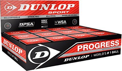Dunlop Progress Improver Player Squash Sports Club Match Racquet Ball Box Of 12