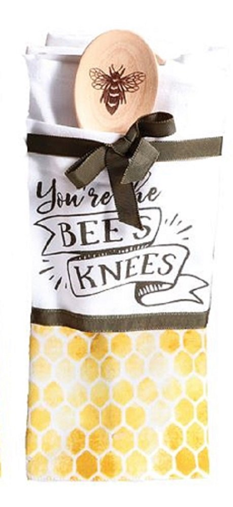 Bees Knees Dish Towel and Spoon Set (You