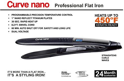 Curve Nano Professional Titanium Flat Iron Keratin (Titanium Curves)