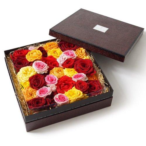 ベルローゼス バラ風呂ギフトBOX(80輪以上)【お風呂に浮かべる生花のバラの花首の詰め合わせ・誕生日・御祝・記念日・ご自宅用・産直ローズのギフトセット】