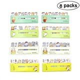 8 Pack Cute Cat Sticky Notes Animal Index Tab Stickers Bookmark Marker Memo Flags