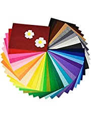 40Pcs Felt Fabric Sheets, 8 x 12 inch DIY Craft Felt 1mm Thick, Non-Woven Fabric for Patchwork, School Projects, Decoration, 40 Assorted Colors (20 x 30cm)