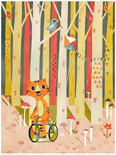 Baby Irene Four Poster (BR &Nameinternal - Tiger In The Woods 18x24 canvas Wall Art, by Irene Chan)