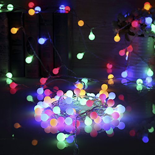 B-right Outdoor Globe String Lights, 100 LED 43.6ft Waterproof String Balls with 8 Modes Remote & Timer, 29V Safety Output UL Listed Power Adapter, Multi-Color by B-right (Image #9)