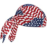 Ergodyne Chill-Its 6615 High-Performance Dew Rag, Stars and Stripes