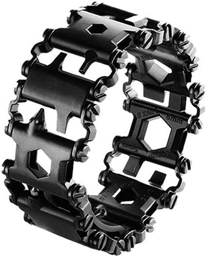 Bracelet multifonction en acier inoxydable 29 en 1 pour randonn/ée maison camping