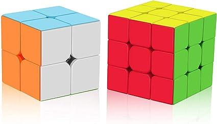 Cyclone Boys 2x2x2 3x3x3 Pyramid Speed Cube Stickerless Magic Cube Set of 3 Roxenda Speed Cube Set
