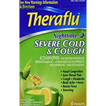 Theraflu Night Time Severe Cold and Cough Packets, 6 Count