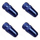 Blue High Pressure MTB Bicycle Presta Valve Cap,Pack of 4pcs