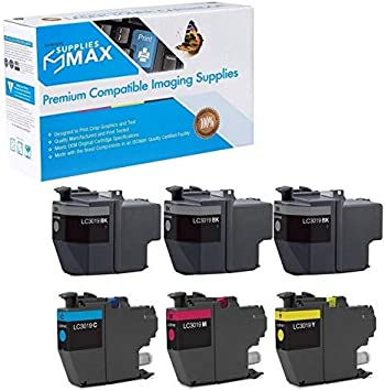 LC-3217RBWBP SuppliesMAX Compatible Replacement for Brother MFC-J5330//J5335//J5730//J76530//J6830DW High Yield Inkjet Combo Pack C//M//Y