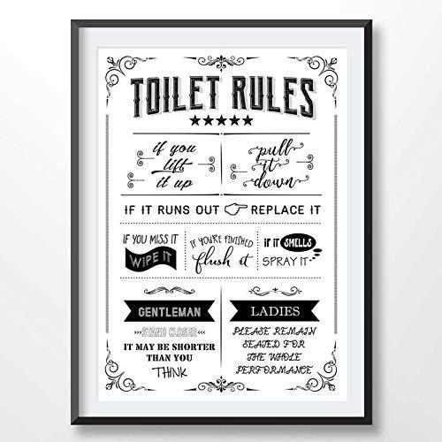 Rainbow Store Toilet Rules Poster, Bathroom Print, Funny Quote, Toilet Sign, Restroom Decor, WC Sign, Bathroom Printable Art, Flush Toilet Digital File