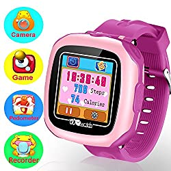 Kids Game Smart Watch for Boys Girls 1.5 Touch Screen Wrist Watch 10 Game Fitness Tracker Pedometer Timer Outdoor Sports Smrtwatch Electronic Learning Toys with Camera Alarm Clock Child Prime Gift