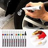 Car Paint Pen, Car Tires Graffiti Paint Pen, Permanent Tyre Tread Marker Pen, Tire Touch Up Graffiti Pen Sign in Pen G0971 for Rock Painting, Stone, Ceramic, Glass, Woods