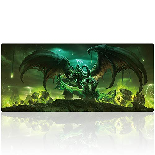 Duboon Large Gaming Mouse Pad 35.4x15.7IN & Non-Slip Smooth Desk Mat Blotter Comfortable Writing Surface (90x40 legion013)