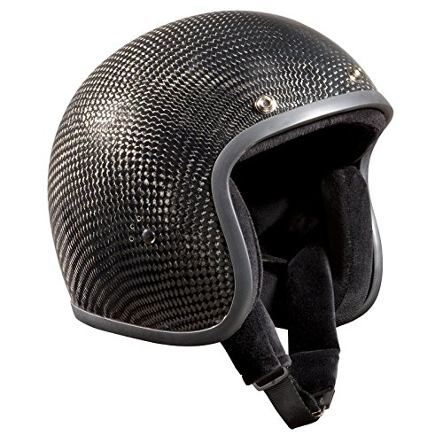 Bandit carbono - casco de moto casco Jet Retro Negro gris oscuro Talla:XL(61-62 cm): Amazon.es: Deportes y aire libre