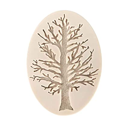 Gessppo Tree Cake Mold 3D Silicone Baking Fondant Decorating Chocolate Sugarcraft Baking Mould for Bread Chocolate
