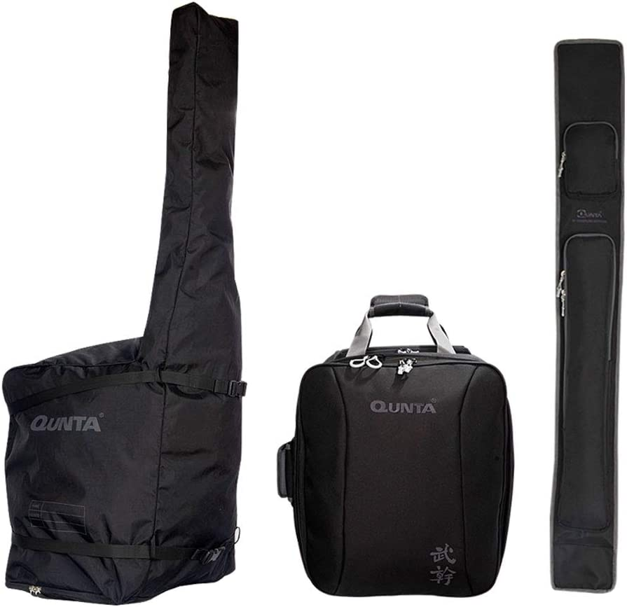 QUNTA Kendo Dojo Travel Carry Bag Moogan Case Black for Making One Baggage in Flight Boarding