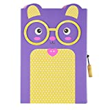 Primary's Diary with A Lock Creative Small Fresh Notebook Cute Expression Purple