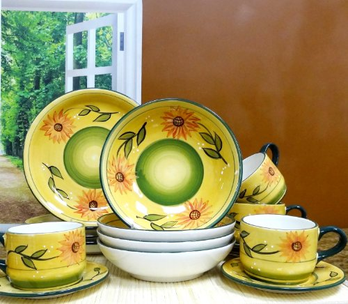Sunflower dinnerware sets & Sunflower kitchen accessories and decor - Color And Style!