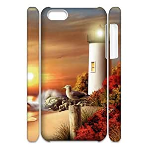 GGMMXO Lighthouse Phone 3D Case For Iphone 5C [Pattern-1]