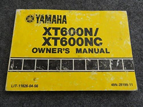 1984 1985 yamaha xt600 owners manual xt 600 n and nc xt600n: yamaha:  amazon com: books