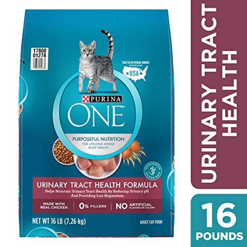 - Purina ONE Urinary Tract Health Dry Cat Food; Urinary Tract Health Formula - 16 lb. Bag