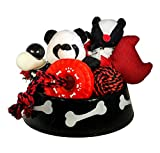 Wolfe & Sparky Gift Pack of Assorted Red,White & Black Dog Toy Pack (6 Count) in a Great Bowl (Ideal for Small to Medium Dogs) Toys May Vary from Photo For Sale