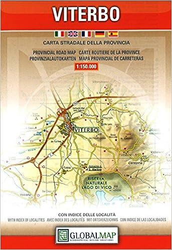 Viterbo Lazio Provincial Road Map 1150 000 English Spanish