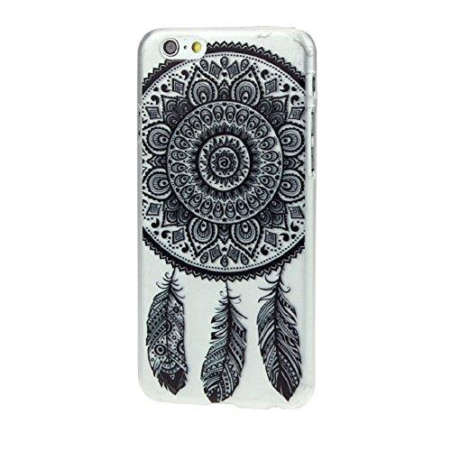 Ukamshop für iPhone 6 schön retro Schwarz Traumfänger klar hülle Tasche case cover
