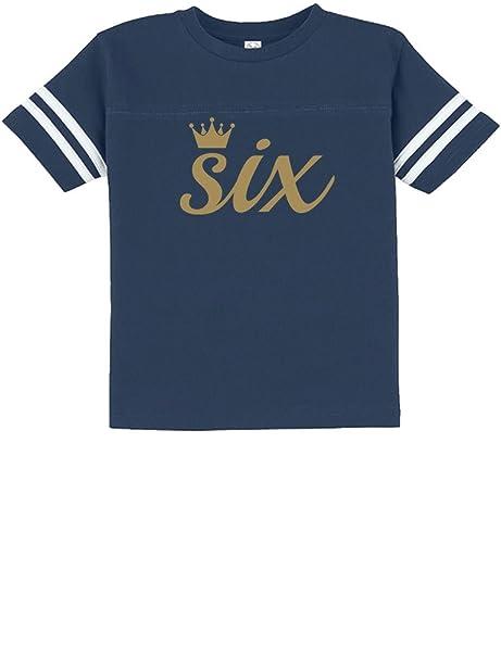 Amazon Tstars Sixth Birthday Gift 6 Year Old Crown Toddler Jersey T Shirt Clothing