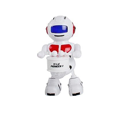 bescita Electronic Walking danse de tambour Smart Bot Robot astronaute enfants Musique lumière jouet