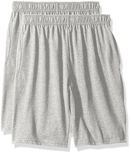 Hanes Big Boys' Jersey Short (Pack of 2), Light