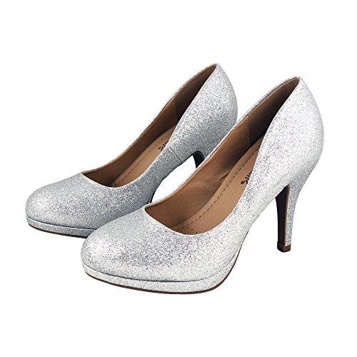 Silverglt Extra Comfort Pumps Cushioned Toe Dress Work Classic Round fSq6vO