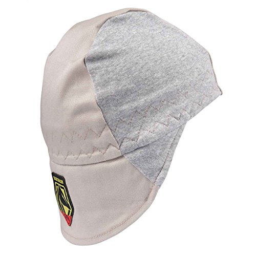 Revco FR Welding Beanie, AH1630-GS, FR Cotton, Large Protective Bill With Hidden Extension Flap, Stretch Fit, Size Large (Large)