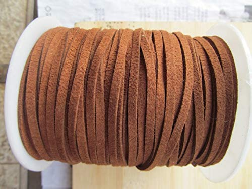 (Laliva 10Yds 4mm Wide Brown/Black Korea Faux Suede Fabric Leather Cord String Rope,Premium Cashmere Suede,Necklace and Bracelet Cord - (Color: Brown))