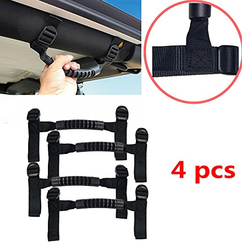 Normal Long Cage (Bestong 4Pcs Grab Handles Roll Bar Grip Hand Holder for Jeep Wrangler YJ TJ JK JKU Rubicon Unlimited X 2/4 Door 1995-2018 Pillar Rear Side Rear Seat (Black, Long))