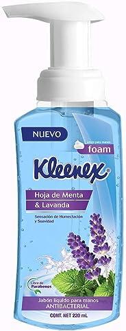 Kleeex Jabón Líquido para Manos en Espuma, Hoja de Menta y Lavanda, 220 ml
