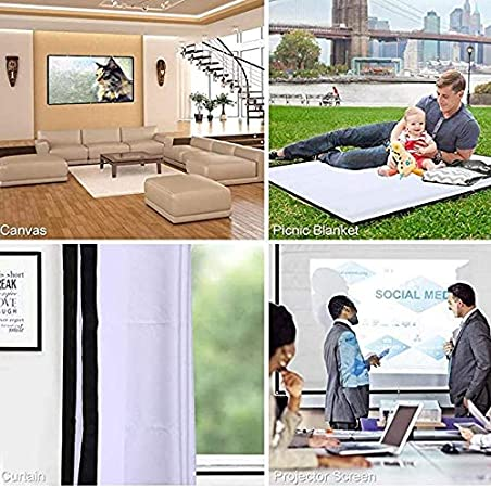 VARWANEO 4:3 HD Projector Screen Portable Folding Anti-Crease Indoor Outdoor Projector Movie Screen for Home Office Outdoors