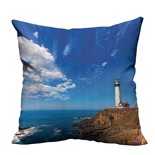 - YouXianHome Zippered Pillow Covers California Pige Point Lighthouse in Cabrillo Coastal Highway State Route Decorative Couch(Double-Sided Printing) 31.5x31.5 inch