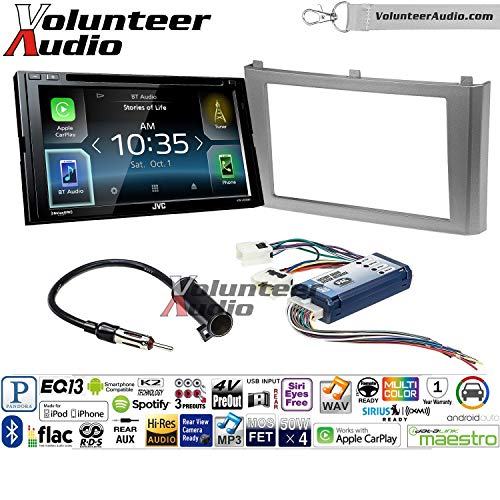Volunteer Audio JVC KW-V830BT Double Din Radio Install Kit with Apple CarPlay and Android Auto Fits 2000-2003 Nissan Maxima (with Bose)