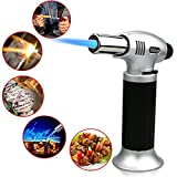 Kyпить Buluri Culinary Butane Torch, Windproof Culinary Torch, Blow Torch Butane Torch Flame Gun With Safety Lock 1300°C for Hiking, Camping, Cooking, Kitchen, Creme Brulee, BBQ(Butane Gas Not Included) на Amazon.com