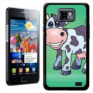 Fancy A Snuggle - Carcasa rígida para Samsung Galaxy S2 i9100, diseño de vaca