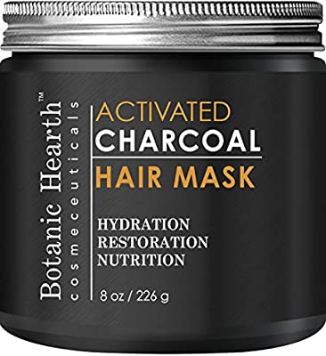 Botanic Hearth Charcoal Hair Mask - Natural Hair Care Product, Hydrating & Restorative Hair Mask, 8 fl oz