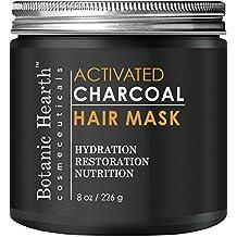 Botanic Hearth Charcoal Hair Mask - Natural Hair Care Product, Hydrating & Restorative Hair Mask, 8 fl oz