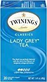 Twinings of London Classics Lady Grey Tea, 20 Count (Pack of 6)