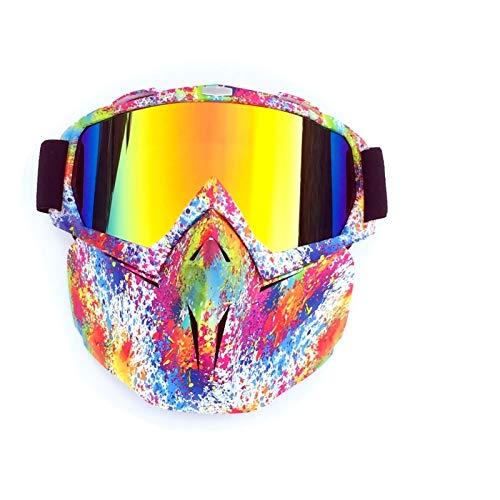 Adisaer Sport Brille Herren Retro Motocross Racing Riding ski Goggles Style 5 for Unisex (Retro Brillen Herren)