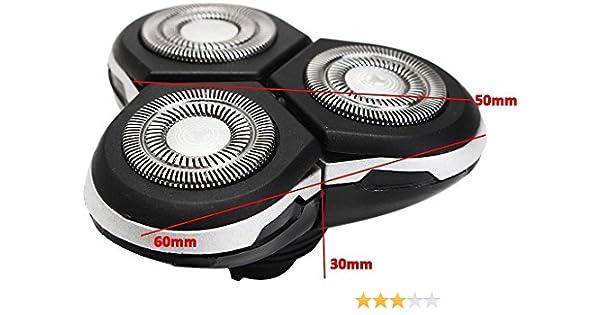 Cabezal de afeitar negro para Philips Norelco RQ12 Sensotouch 3D Bulk 1260 X 1280X 1290X Jupitorz: Amazon.es: Electrónica