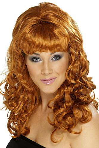 Smiffy's Women's Auburn Beehive Wig with Curls, One Size, Beehive Beauty Wig, 5020570420614