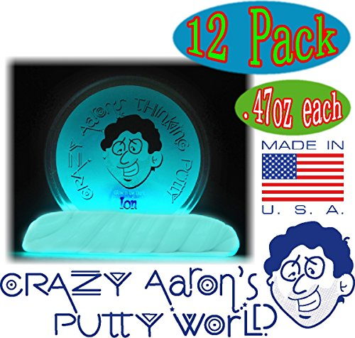 Crazy Aaron's Thinking Putty Mini Tin Complete Gift Set with Lizard Lips Hypercolor, 12-Pack by Crazy Aaron's (Image #3)