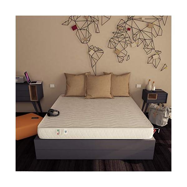 Baldiflex Easy Materasso, in Memory Water Foam, Cotone Ortopedico, Poliuretano, Bianco, 140 x 190 x 18 cm 2 spesavip